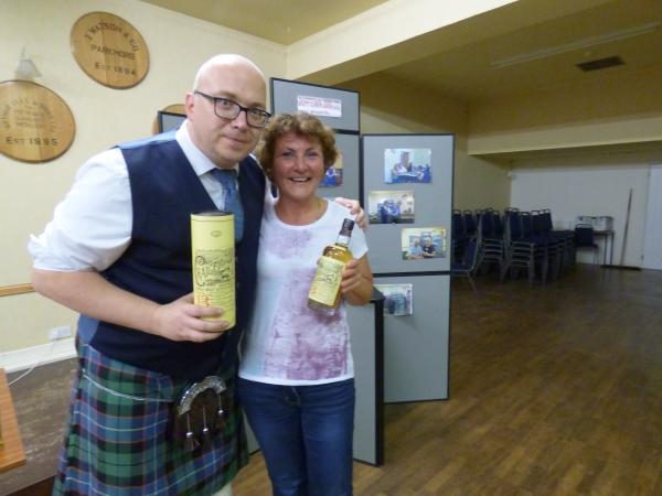 Dewars/Bacardi Tasting 22 Aug 18 - Winner Birgit Hartmann