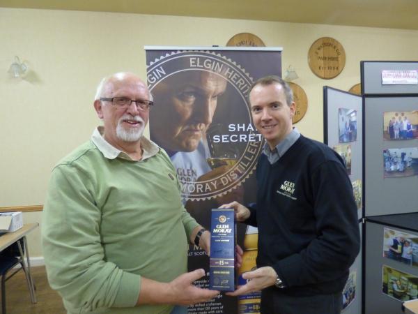 Glen Moray Tasting - Winner Klaus Ingwersen from Germany.