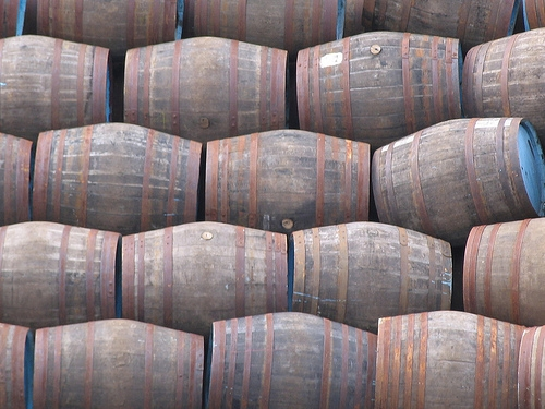 Barrels at the Speyside Cooperage