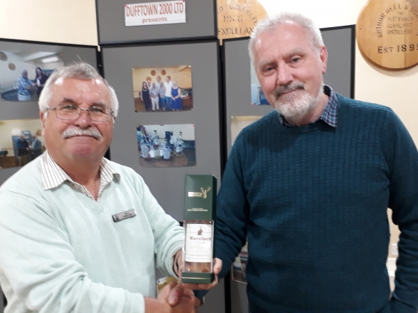 Whiskies of the Speyside Line 17 Jul 19  Winner - Colin Mackenzie