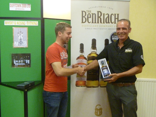 BenRiach Nosing Competition Winner - Sebastian Minden from Germany