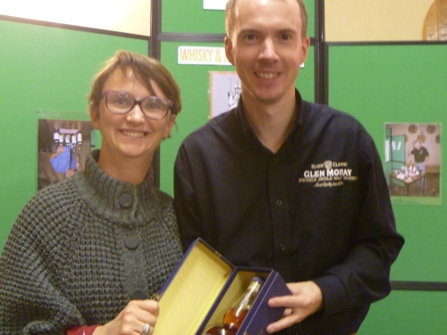 Fanny Verdu, winner of the Glen Moray Nosing Competition