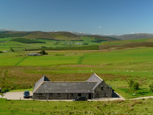 Bluefolds Steading Cottages - view to Cairngorms